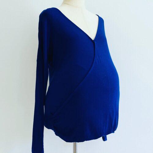 TL53 royal blue nursing maternity shirt 38 40