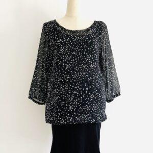 black-blouse-white-stars-maternity-tunic