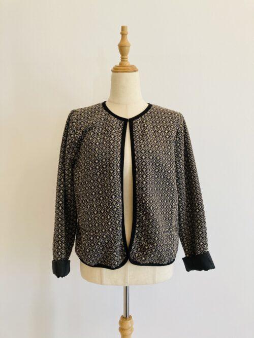 black printed maternity jacket