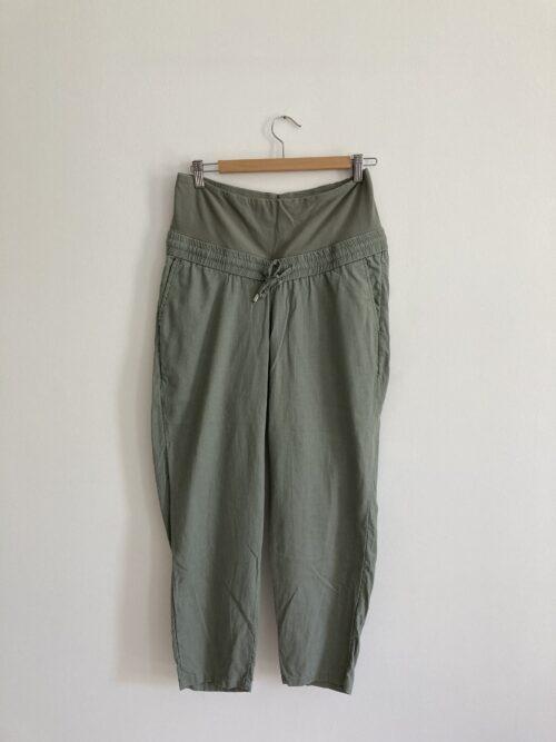 khaki maternity trousers