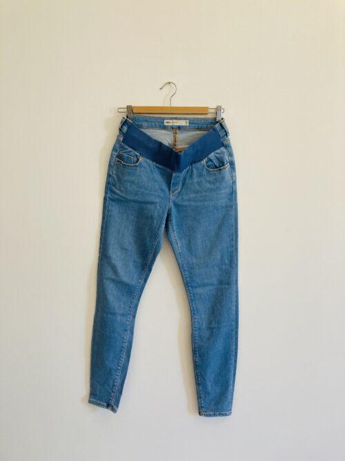 blue maternity jeans low waist