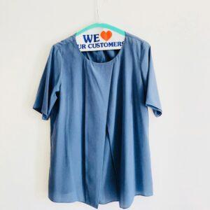 blue soft facbrics maternity tunic