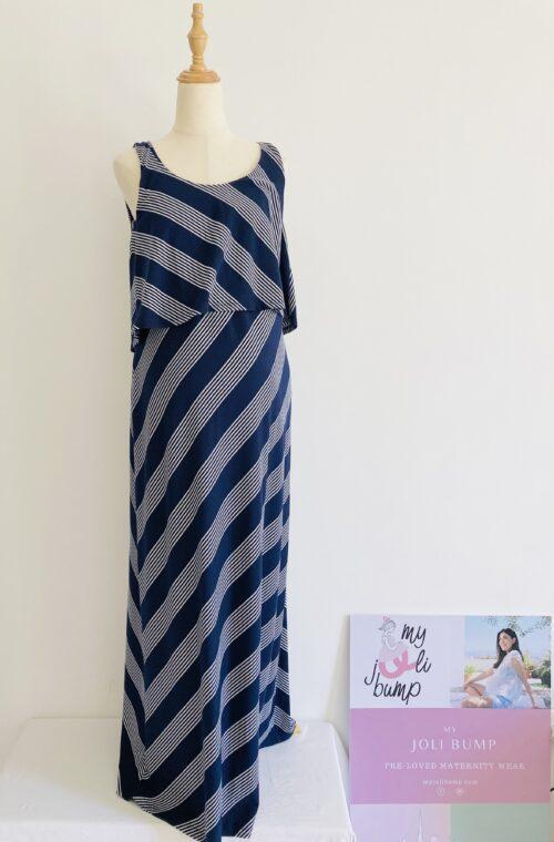maxi striped maternity dress