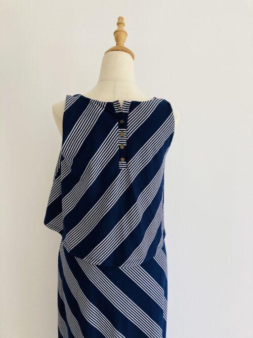 C009RL01 maxi striped blue maternity dress M