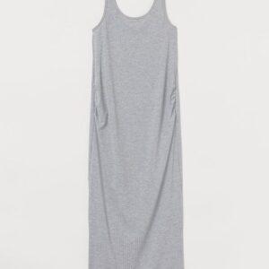 maxi grey ribbed dress