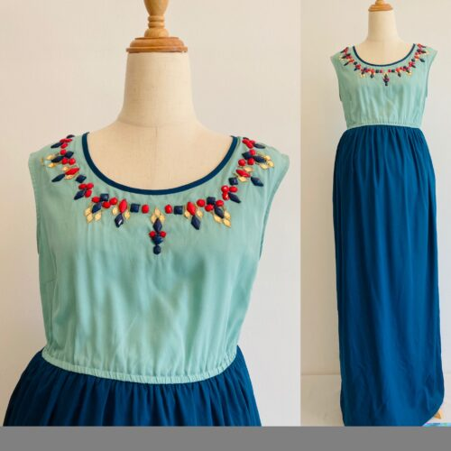 maxi dress with ornaments